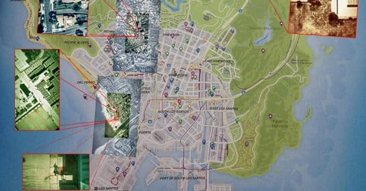 В сети появилась оригинальная карта мира GTA V