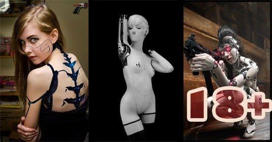 Девушки — роботы, киберпанк, киборги