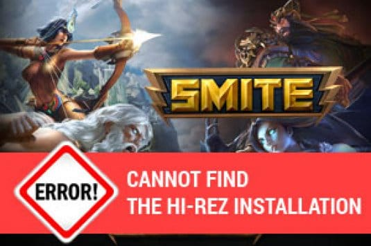 Решение ошибки Smite: Cannot find the Hi-Rez installation