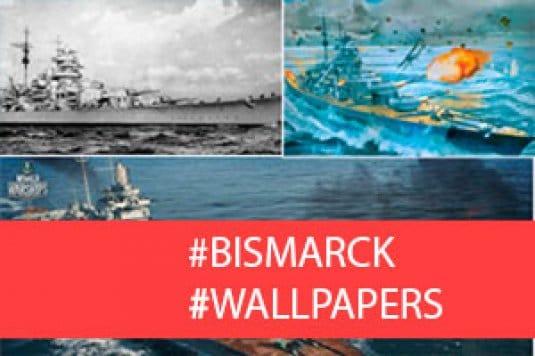 Линкор Бисмарк — обои World of Warships