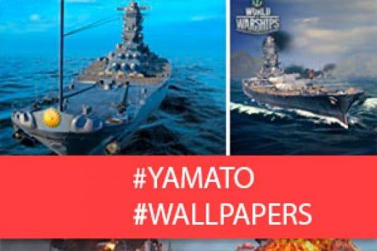 Линкор Yamato — обои World of Warships