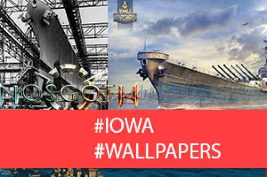 Линкор Iowa — обои World of Warships