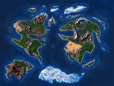 Карта игры. Вот такие необъятные просторы