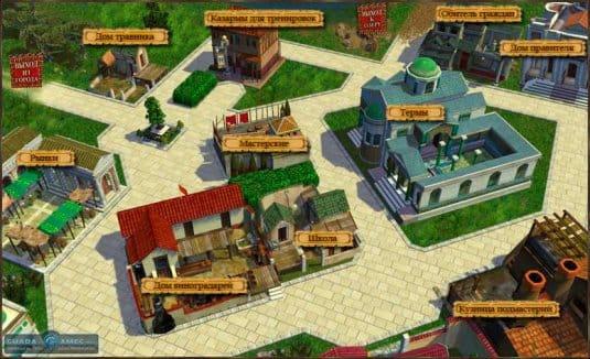Постройки города