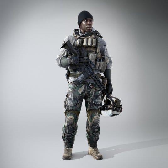 Предполагаемый солдат из Battlefield 4