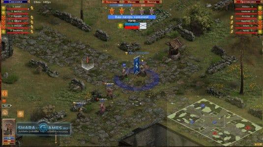 Игровое поле в Medieval Online