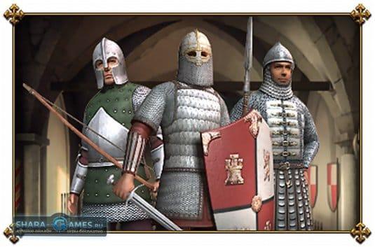 В Medieval Online есть три класса: пехотинец, стрелок и латник