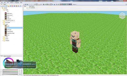Сделать скин для Minecraft с помощью программы MCSkin3D