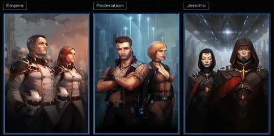 Выбирайте одну из трех фракций, а также выполняйте задания отдельного отряда