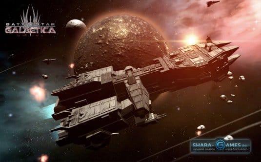 Прекрасные виды космических объектов и классно реализованные корабли ждут тебя в Battlestar Galactica online