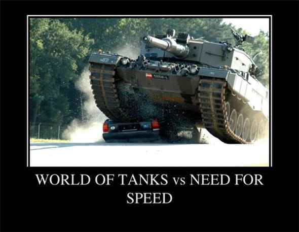 World of Tanks против Need For Speed