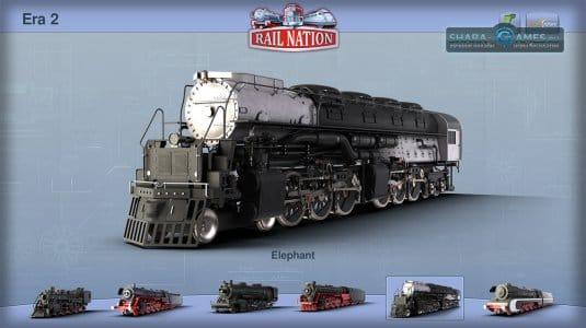 В каждой эпохе собраны десятки разных очень красивых поездов