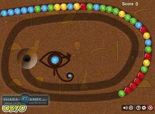 Обычная Зума — самая популярная разновидность игр в стиле зума