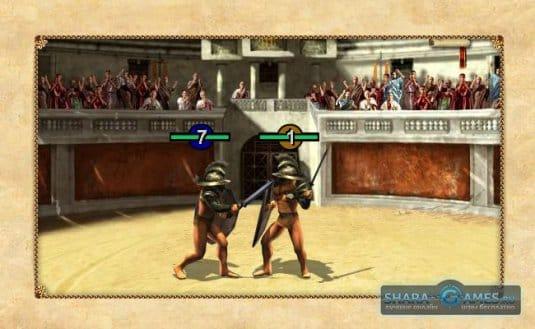 интерфейс игры Гладиаторы, в коорую можно играть прямо с браузера