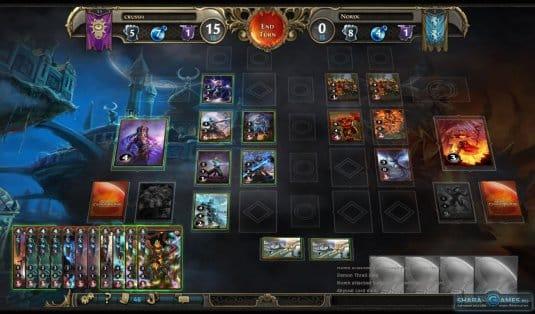 Карточное сражение между двумя игроками