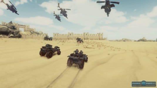 Наземная техника и паровые вертолёты в одной игре