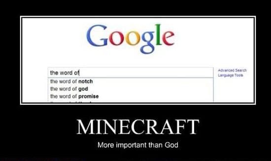 Майнкрафт важнее, чем Бог