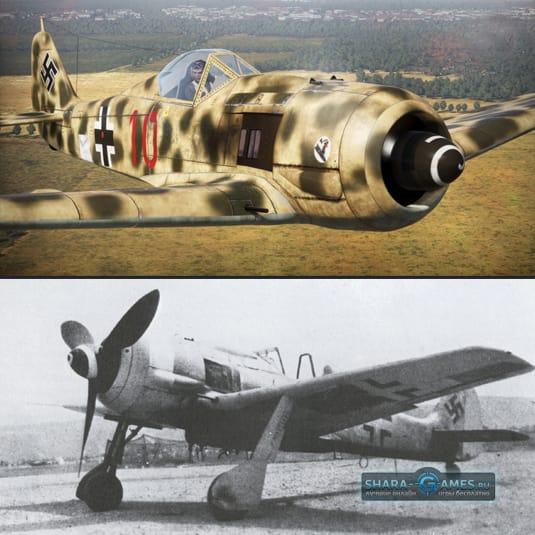 Камуфляж на истребитель Фокке-Вульф FW-190 «Душитель»