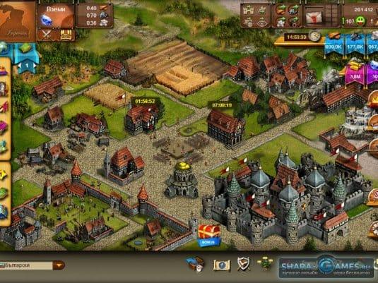 Развитый город в «Империи онлайн».