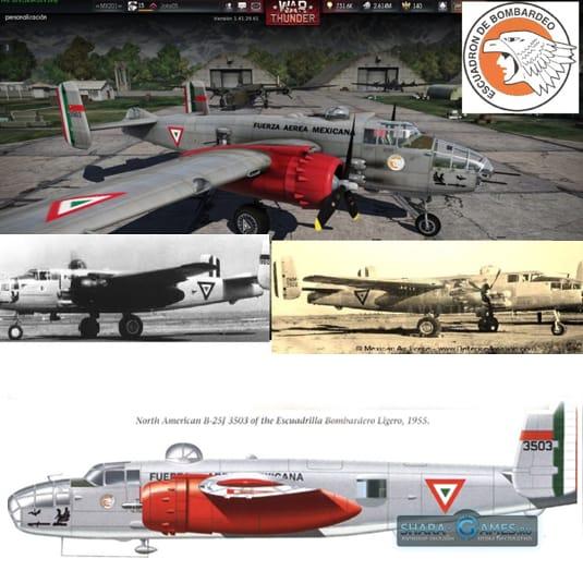 Камуфляж бомбардировщика B-25 «Митчел