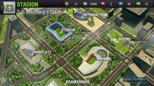 Расположение стадиона