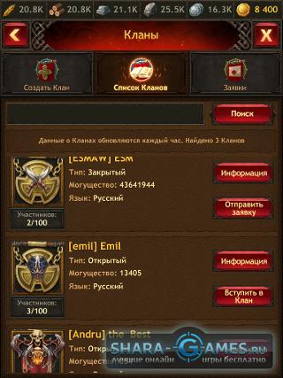 Список кланов