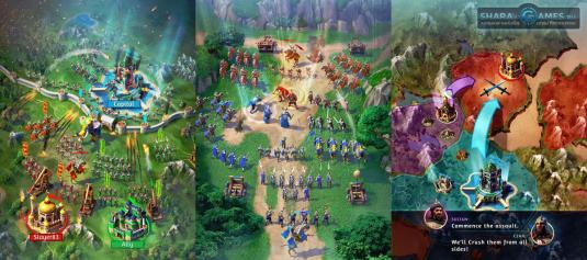 Сражения в игре Марш Империй