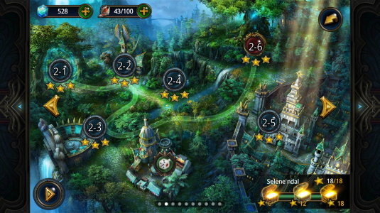 Карта игровых уровней