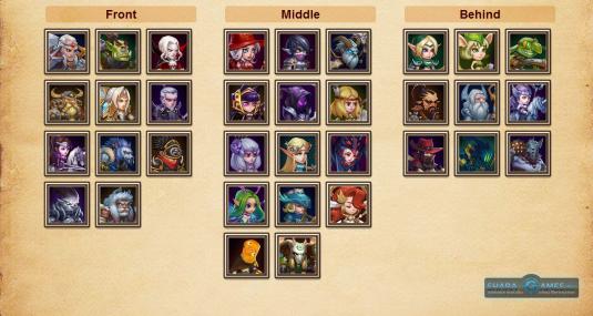 Список героев (здесь представлены не все герои, а лишь часть)
