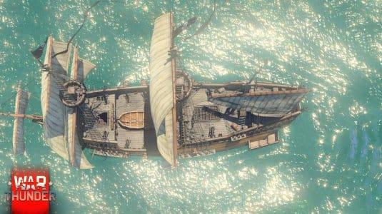 War Thunder парусные корабли. Скриншот 1