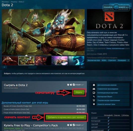 Скриншот Сайта Steam