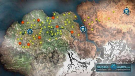 Карта спотов мобов