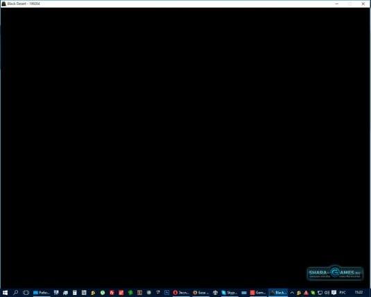 Черный экран после запуска игры