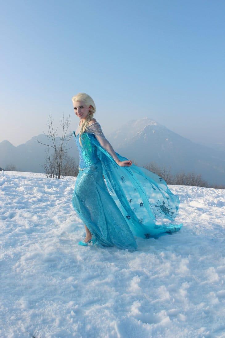 холодное сердце эльза в снегу фото охранная