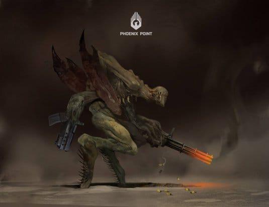 Эскиз монстра из игры Phoenix Point. №1