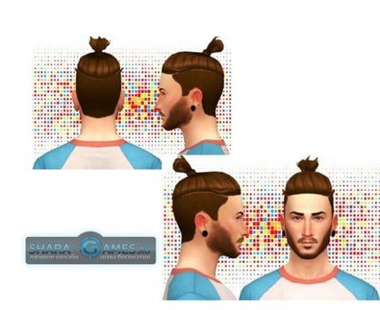 Shaved bun hair
