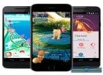 Фото на экране телефона разных игровых моментов