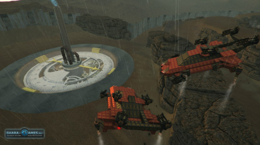 Вид базы, а также летающая техника