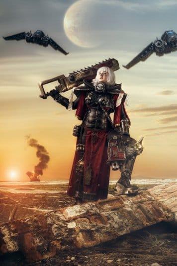 Женский косплей на Warhammer 40000 от LolliLane CosNerd №1