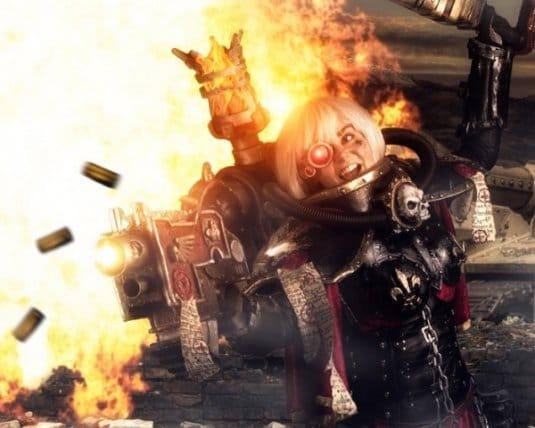 Женский косплей на Warhammer 40000 от LolliLane CosNerd №4
