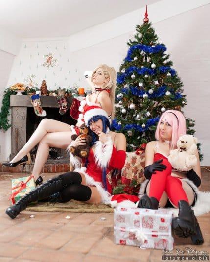 Наруто — рождественский косплей #3
