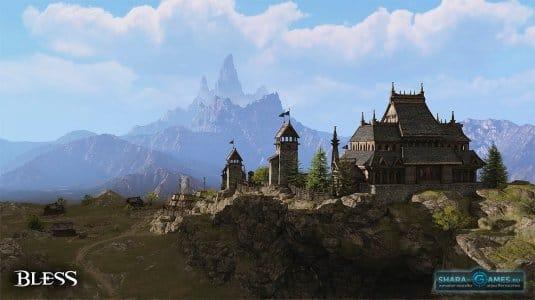 Небольшое поселение в горах