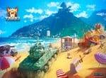 Танки Х на пляже