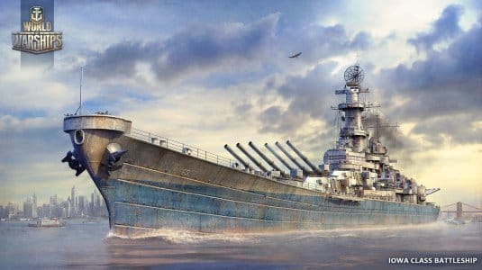 Линкор Iowa — обои World of Warships #10