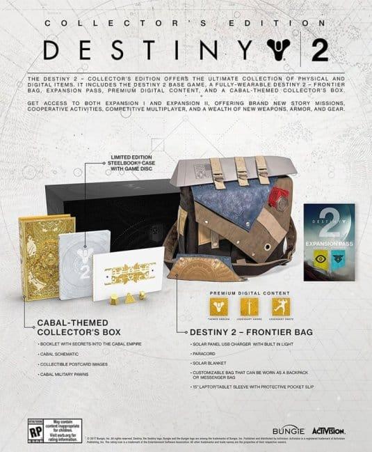 Коллекционное издание игры Destiny 2