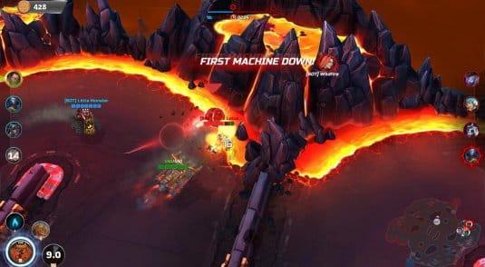 Первая кровь в матче Heavy Metal Machines.