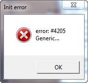Ошибка 4205