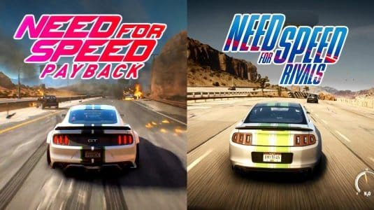 Сравнение качества графики игр Need for Speed