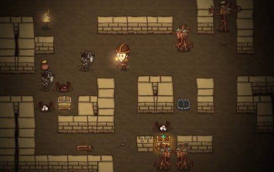 Одно из первых подземелий в игре