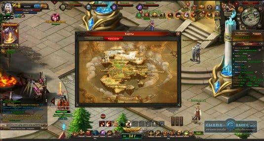 Карта в игре Eternal Blade